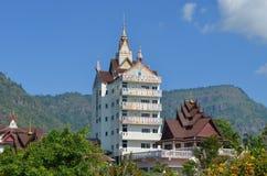 Landskap av templet i Thailand Fotografering för Bildbyråer