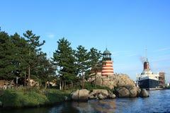 Landskap av Tokyo DisneySea Royaltyfria Bilder