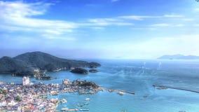 Landskap av Tomonoura stock video