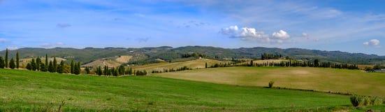 Landskap av Toscana, Italien Fotografering för Bildbyråer