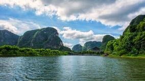Landskap av Trang - en Ninh Binh Arkivfoton
