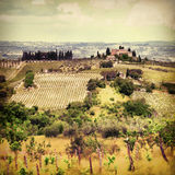 Landskap av Tuscany Royaltyfri Foto
