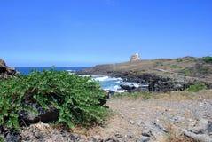 Landskap av Ustica Arkivfoton