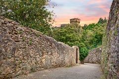Landskap av Volterra, Tuscany, Italien Arkivfoton