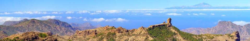 Landskap av vulkaniska berg på Gran Canaria Royaltyfria Bilder