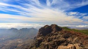 Landskap av vulkaniska berg på Gran Canaria Arkivbild