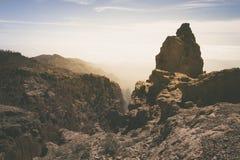 Landskap av vulkaniska berg på Gran Canaria Arkivfoto