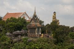 Landskap av Wat Sampov Pram Arkivfoto