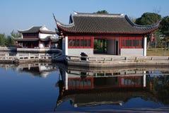 Landskap av Xitang den forntida staden Arkivfoto