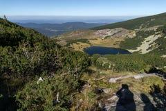 Landskap av Yonchevo sjön, Rila berg, Bulgarien Royaltyfria Foton