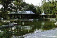 Landskap av Yuyuantan parkerar i Peking Royaltyfria Foton