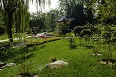 Landskap av Yuyuantan parkerar i Peking Arkivbilder