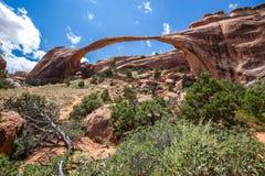 Landskap bågen i bågar nationalparken, Utah, USA Royaltyfri Bild