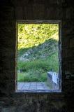 Landskap bak fönstret Royaltyfri Foto