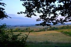 Landskap byn, ny luft, det härliga landskapet, bra väder royaltyfri fotografi