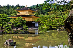 Kinkakuji i Kyoto, Japan Arkivfoto