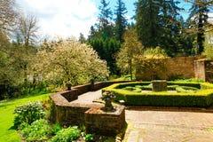 Landskap desing, historisk trädgård, Lakewood, WA Royaltyfria Foton