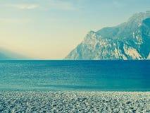 Landskap destination för lopp för sjö panorama- royaltyfria bilder