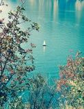 Landskap destination för lopp för sjö panorama- royaltyfri fotografi