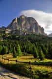 Landskap Dolomity Arkivfoto