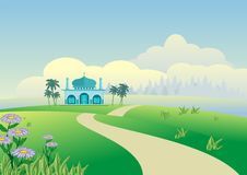 2015 landskap Eid Mubarak Background Arkivbilder