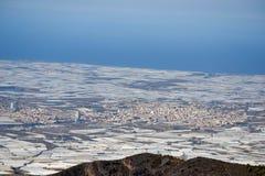 Landskap El Ejido Almeria royaltyfria bilder