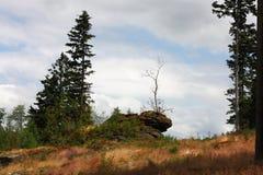 Landskapför Å-umavaberg, Tjeckien Arkivfoton