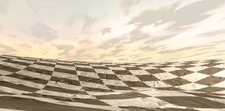 Landskap för ökenschackbräde royaltyfri illustrationer