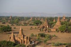 LANDSKAP FÖR ASIEN MYANMAR BAGAN TEMPELPAGOD arkivfoton
