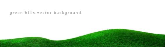Landskap för bakgrund för gröna kullar för vektor realistiskt royaltyfri illustrationer