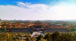 Landskap för Beijin ` s Forbidden City Royaltyfria Foton