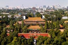 Landskap för Beijin ` s Forbidden City Arkivfoton