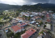 Landskap för byggnader för Panama överblickstad royaltyfria bilder