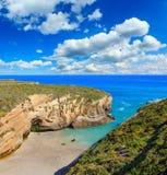 Landskap för Cantabric kustsommar Arkivfoton