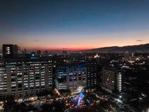 Landskap för Cebu stadssolnedgång royaltyfria foton