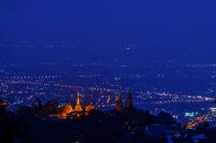 Landskap för Chiang Mai nattljus Fotografering för Bildbyråer
