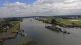 landskap för flod för beijing porslingemenskap nytt bostads Arkivfoto