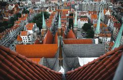 Landskap för Gdansk stadsmitt arkivfoto