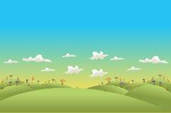 Landskap för gröna kullar Arkivfoton