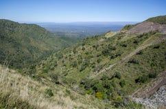 Landskap för gröna kullar Arkivfoto