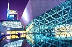 Landskap för Guangzhou operahusnatt Fotografering för Bildbyråer