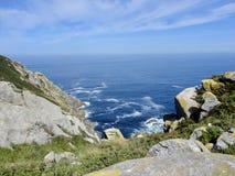 Landskap för härlig sikt av Atlanticet Ocean royaltyfria bilder