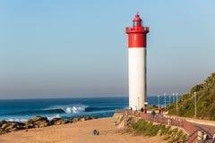 Landskap för horisont för strandfyrhav Royaltyfria Bilder