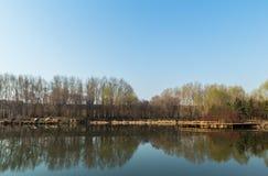 Landskap för Jilin månesjö Royaltyfri Fotografi