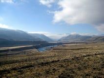 Landskap för kulleökenterräng Arkivfoto