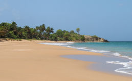 Landskap för LaPerle strand i Basse Terre Guadeloupe Royaltyfri Foto