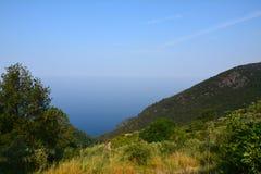 Landskap för Ligurian hav Arkivbilder