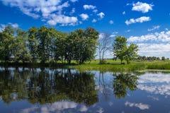 Landskap för Maskinongé flod, Quebec, Kanada Royaltyfri Bild