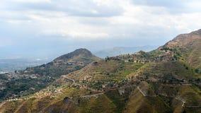 Landskap för Mt Etna Arkivbilder