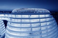 Landskap för PekinggalaxSoHo byggnad Arkivbild